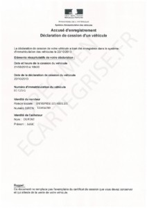 Specimen accuse enregistrement declaration de cession