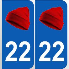 autocollant-Bretagne-plaque-bonnet-rouge