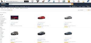 Amazon vente de voitures en ligne