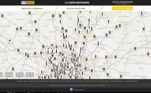 carte des radars en France